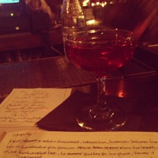 Award-winning London Iris cocktail,   guest starring at Gin Palace