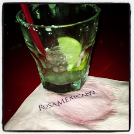 Dredges of Classic Margarita, Rosa Mexicano, union square, nyc