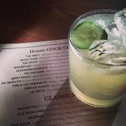 ALEXANDER ROMANCE cocktail (gin, cucumber, mint, elderflower) at Bakehouse