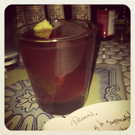 GUATEMALANSQUARE at the east village bitters emporium, Amor y Amargo