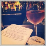 Clinging to summer with a glass of rose (Grape & Vine)