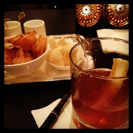 Cocktail snacks at The Pierre Hotel, post-viewing of GIRL WITH PEARL EARRING at The Frick Museum