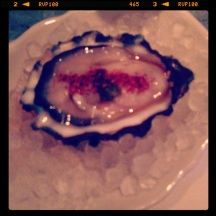 Oyster experimentation at Apartment 13 (avenue c, east village)