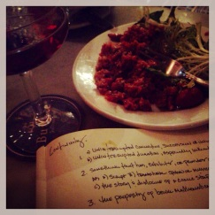 Traditional Manhattan, Traditional Steak Tartare at Buvette
