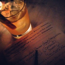 CATHOLIC GUILT cocktail (yes, really) at Highlands