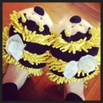 The only footwear that fits: Bee Slippers