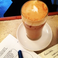 (almost) too-pretty-to-drink almond latte at ElRey