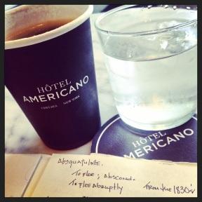 Cafe Americano at Hotel Americano