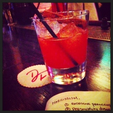 Bitter, spicy, boozy PIGALLE cocktail at Dirty French