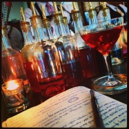 Scribbling with THE BARONESS (aged rum cocktail) at The Eddy