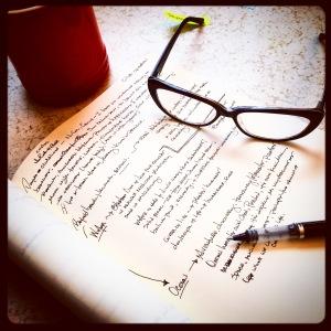 Initial story scribbling...